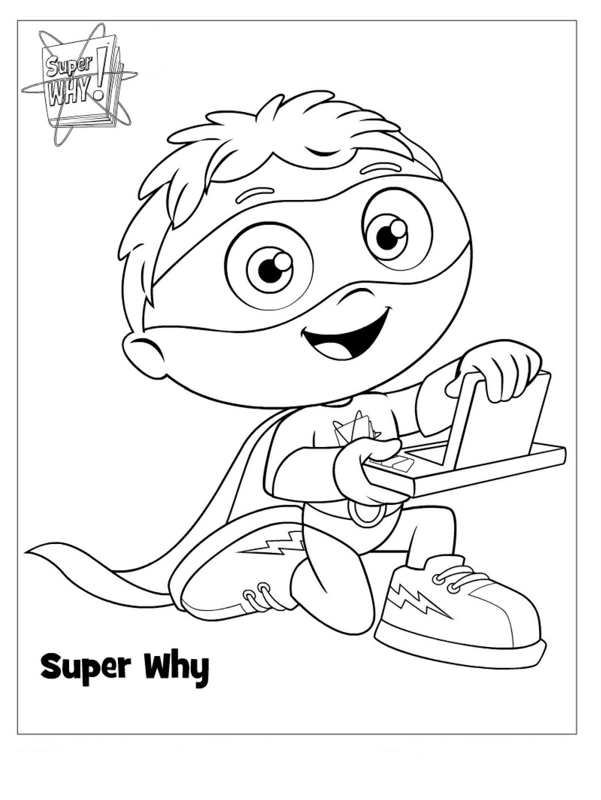 Super Why Wonder Red Coloring Page We Also Bought Party Horns Building Blocks Crayons Shape Sorters And Bubbles These Were All From Various Thrift